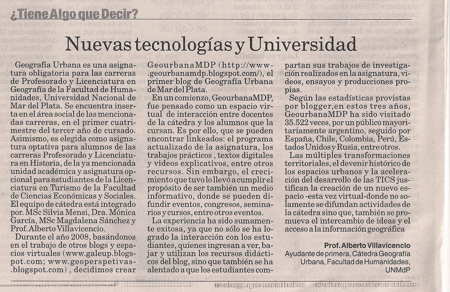 el Diario La Capital, de Mar del Plata el día 16 de diciembre de 2011