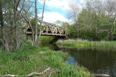 järnvägsbro över vatten, Örtofta. foto: Reb Dutius