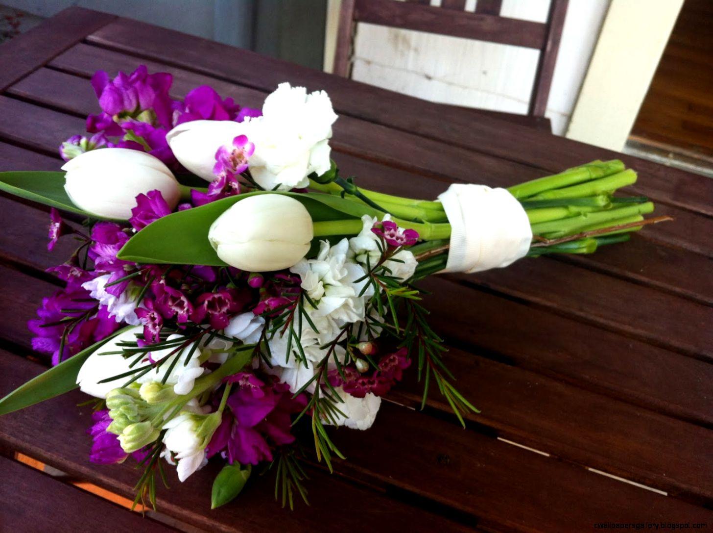 Tulips bouquet   Purple tulips bouquet   Purple And White Tulip