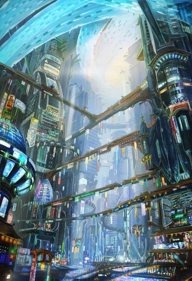 Chongmyo Plaza - Cloud Atlas concept by Adam Kuczek