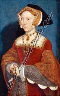 "The Great Artist Hans Holbein Painting ""Queen Jane Seymour"" 1536-37 25½"" x 15¾"" Kunsthistorisches Museum, Vienna"