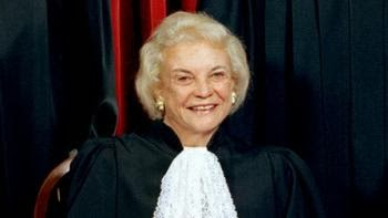 The Associated Press is reporting that retired Supreme Court Justice Sandra Day O'Connor officiated the wedding of a gay couple at the Supreme Court yesterday: