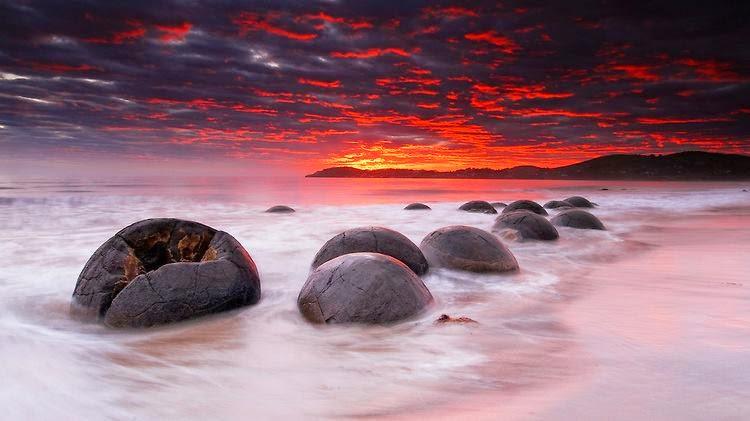Moeraki Boulders (massi), Oamaru (Nuova Zelanda)