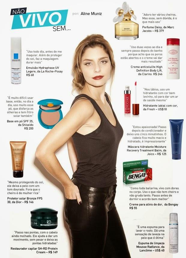 Cantora Aline Muniz elege seus produtos de beleza preferidos