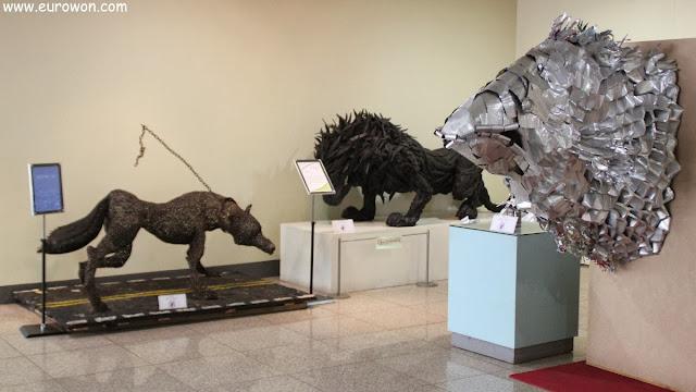 Esculturas realizadas con residuos en Seúl