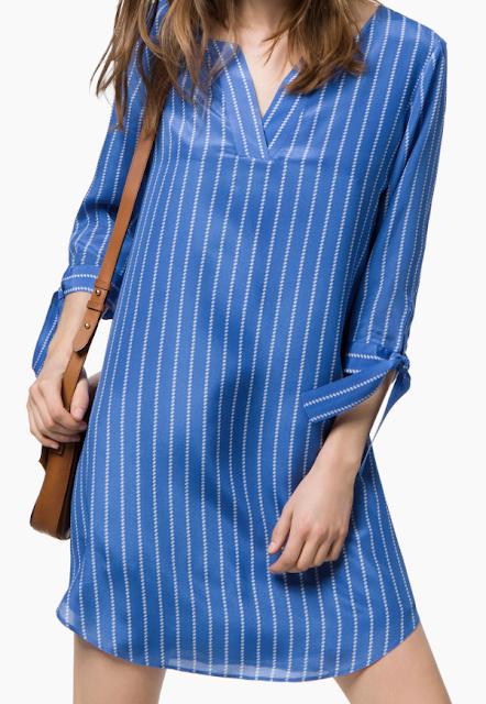Rebajas SS 2015 fondo de armario vestido camillero azul rayas