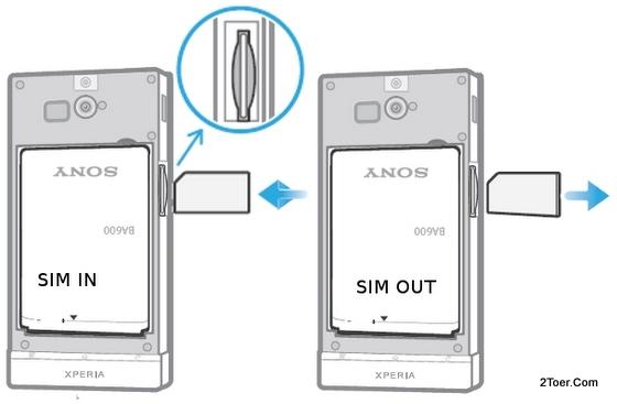 Install Insert Remove SIM Card Slot Sony Xperia U ST25
