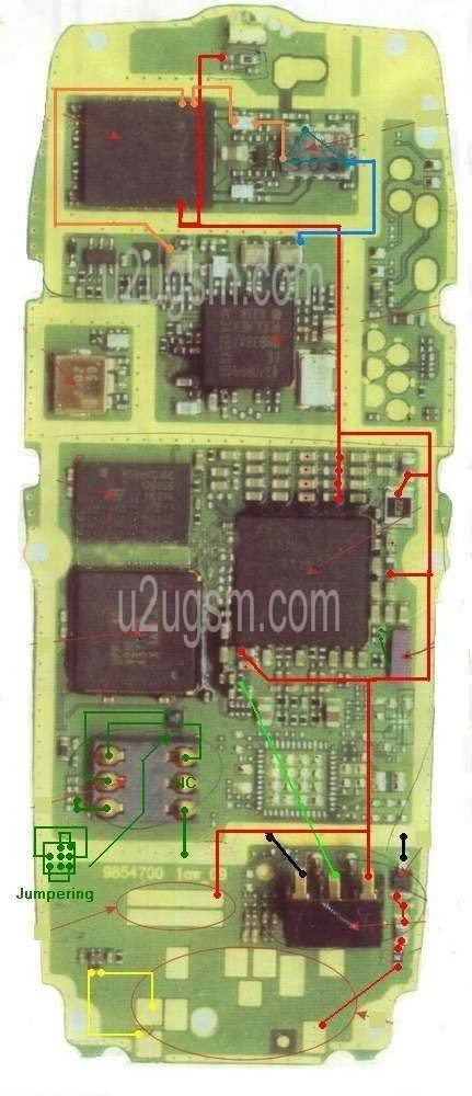 Maheshwari Mobile Repairing Centre Nokia 1100 PCB lay out