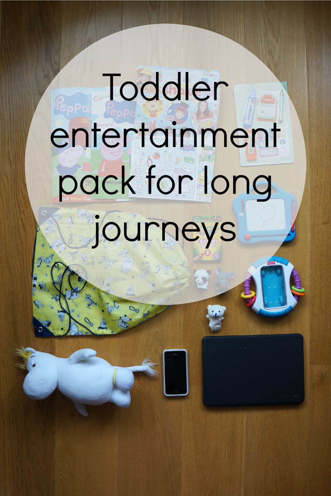 10 ideas for toddler entertainment pack for flying travel long journeys
