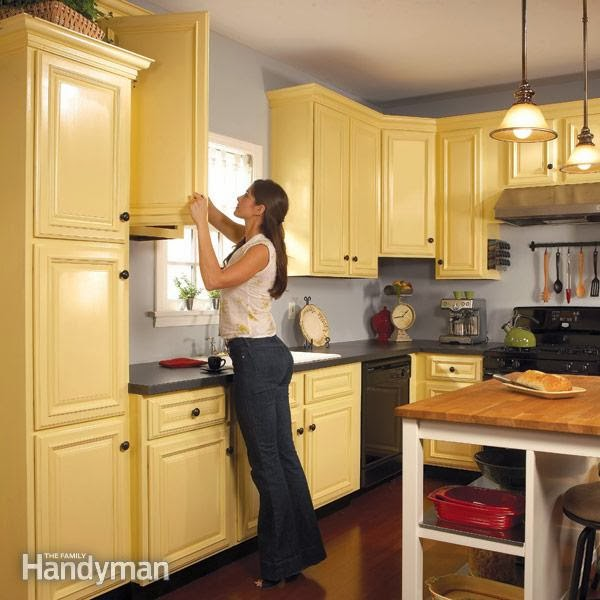 How To Spray Paint Kitchen Cabinets Diy Craft Projects