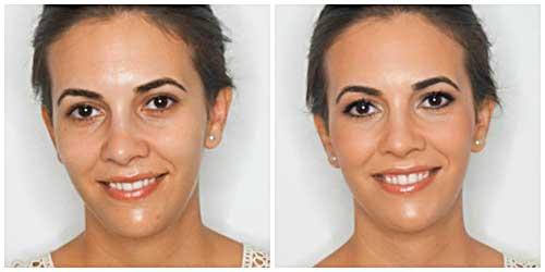 maquillaje novia antes despues