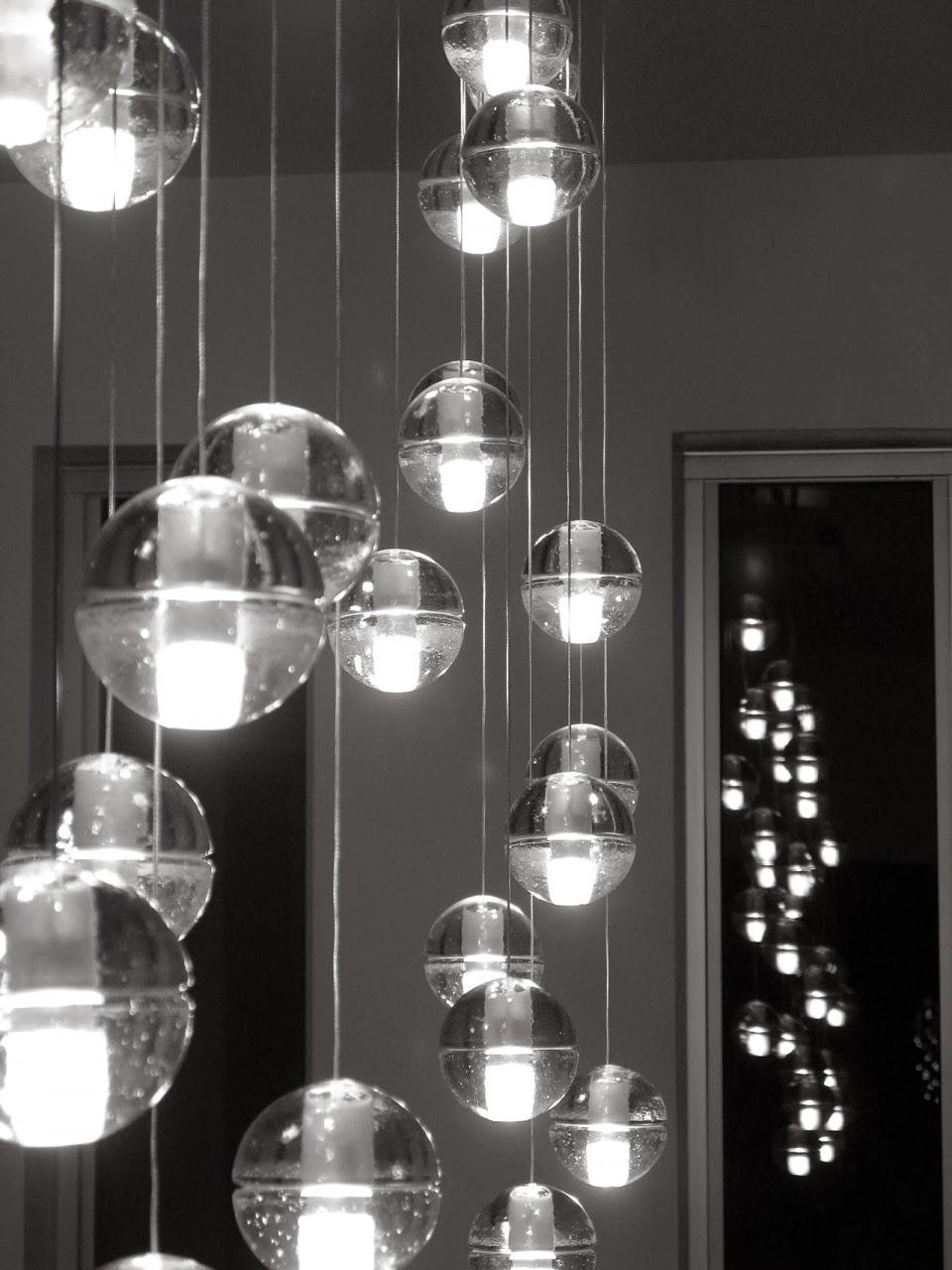 Mi casa magicas lamparas de cristal - Lamparas con botes de cristal ...