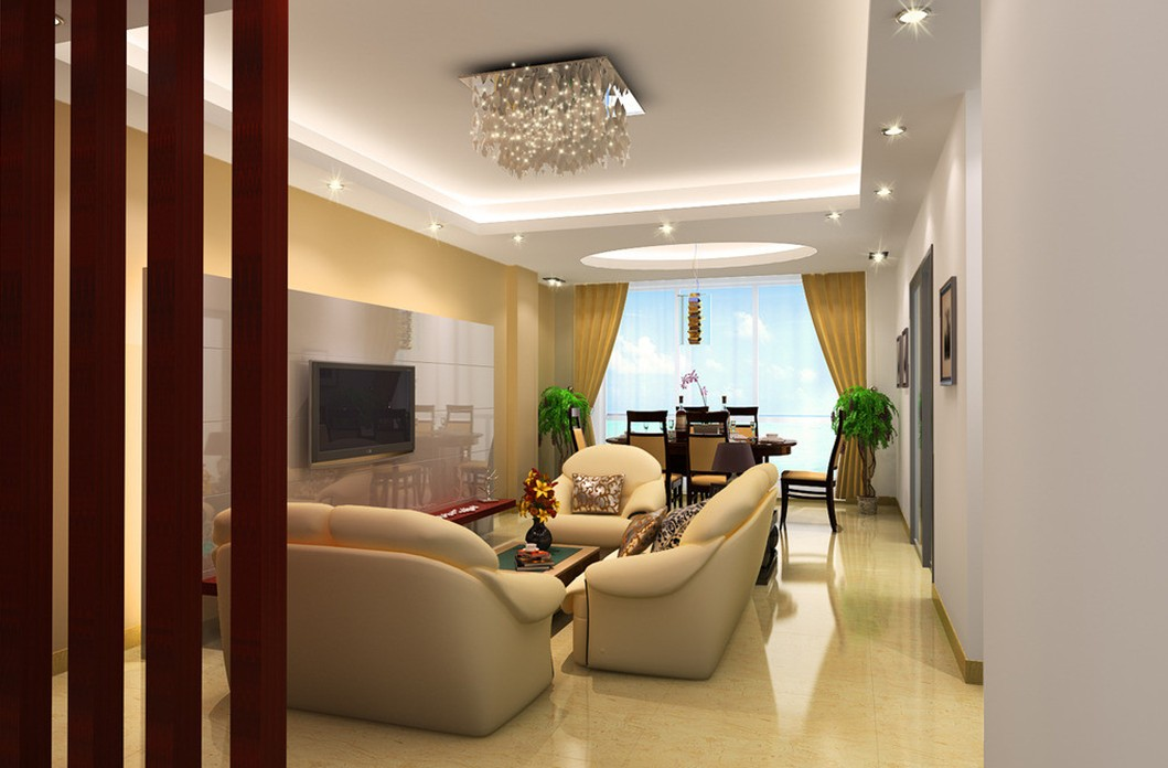 Simplicity is the keynote of all true elegance modern for Living room and dining room design