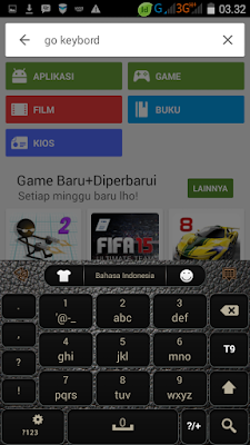 how to change go keyboard from qwerty to 3x4