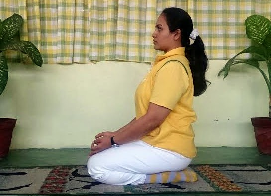 Yoga Pose in Vajrasana