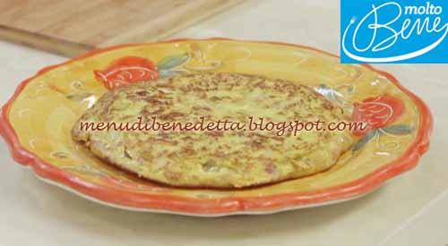 Tortilla di patate ricetta Parodi per Molto Bene su Real Time