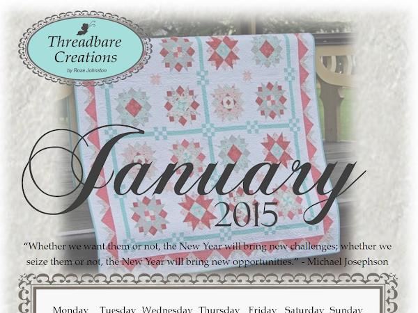 Free January 2015 Calendar