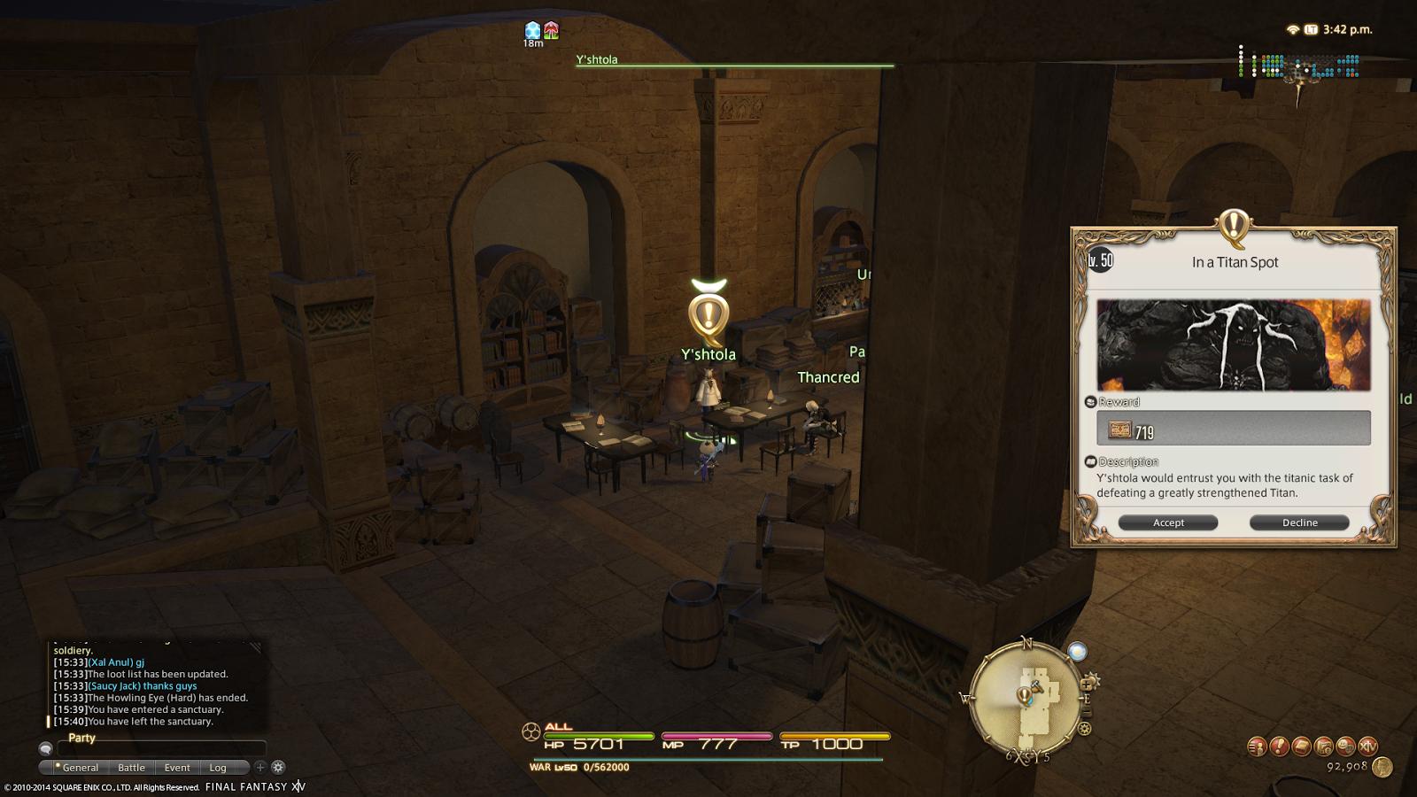 Final Fantasy XIV A Realm Reborn In A Titan Spot The Navel Hard Trial