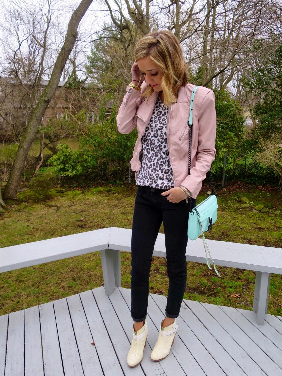 pink blanknyc leather jacket