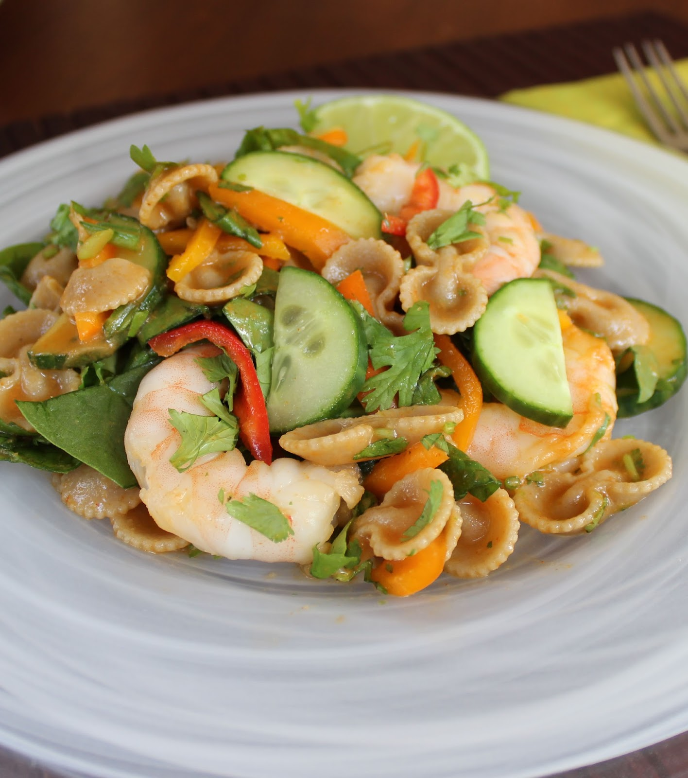 Burp!: Summer Pastabilities: Bow-Thai Shrimp Salad