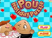 Pou Holiday Puzzle juego