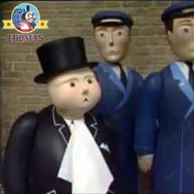 What is it asked the Fat Controller to paint post train Percy the tank engine said the famous artist