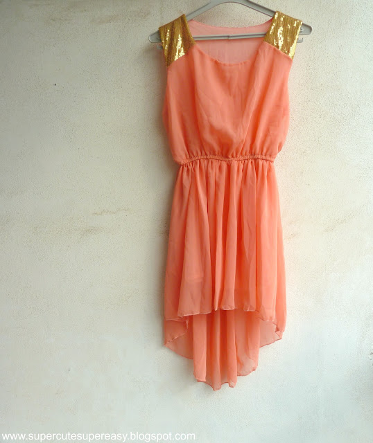 New in: Hi Lo Peach Dress