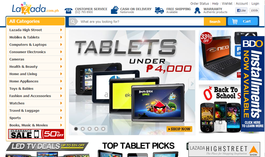 Lazada philippines 39 online shopping mall lazada ph an for Trusted websites for online shopping