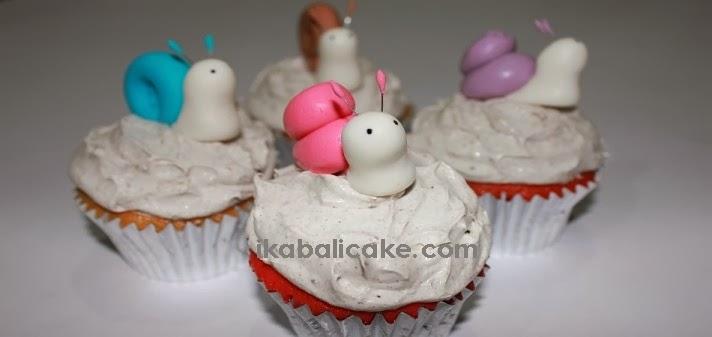 snail cupcake bali cake