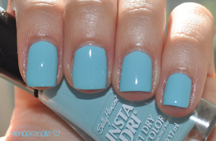 sally hansen insta dri nail polish in blue awaySally Hansen Insta Dri Blue Away
