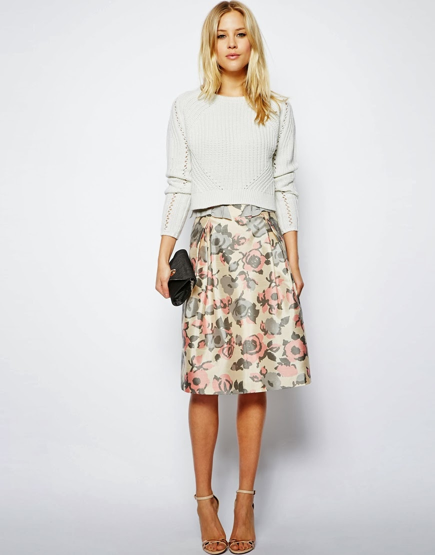asos flower skirt