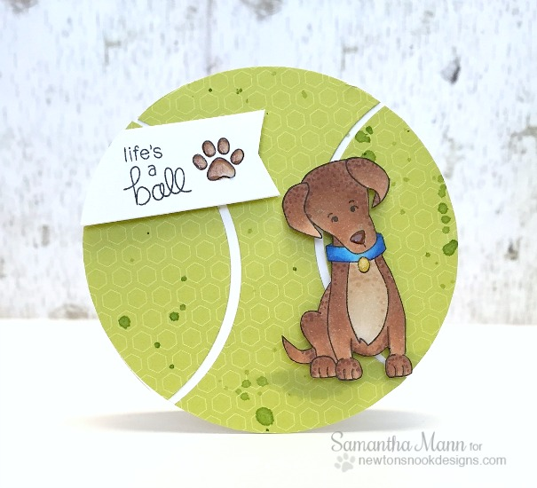 Labrador Dog Tennis Ball Birthday Card by Samantha Mann | Fetching Friendship Stamp set by Newton's Nook Designs
