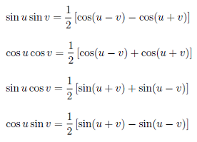 product+to+sum Trigonometry