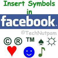 how to insert symbols in facebook status messages