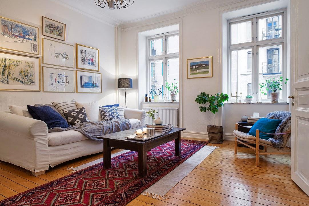 Decoraci n f cil alfombras persas y estilo nordico - Alfombras pasillo ...