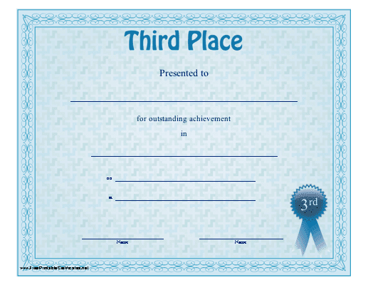 1st Place Certificate Template - mandegar.info