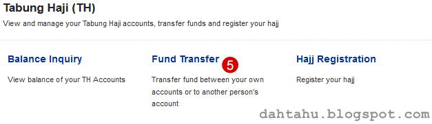 Maybank2u Maybank Transfer ke Tabung Haji 2-5