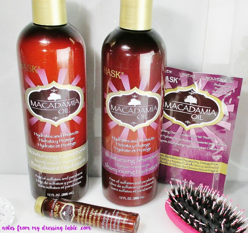 Want Softer, Shinier Hair? Get Nutty! - Hask Macadamia Nut OIl Hair Care - Review notesfrommydressingtable.com