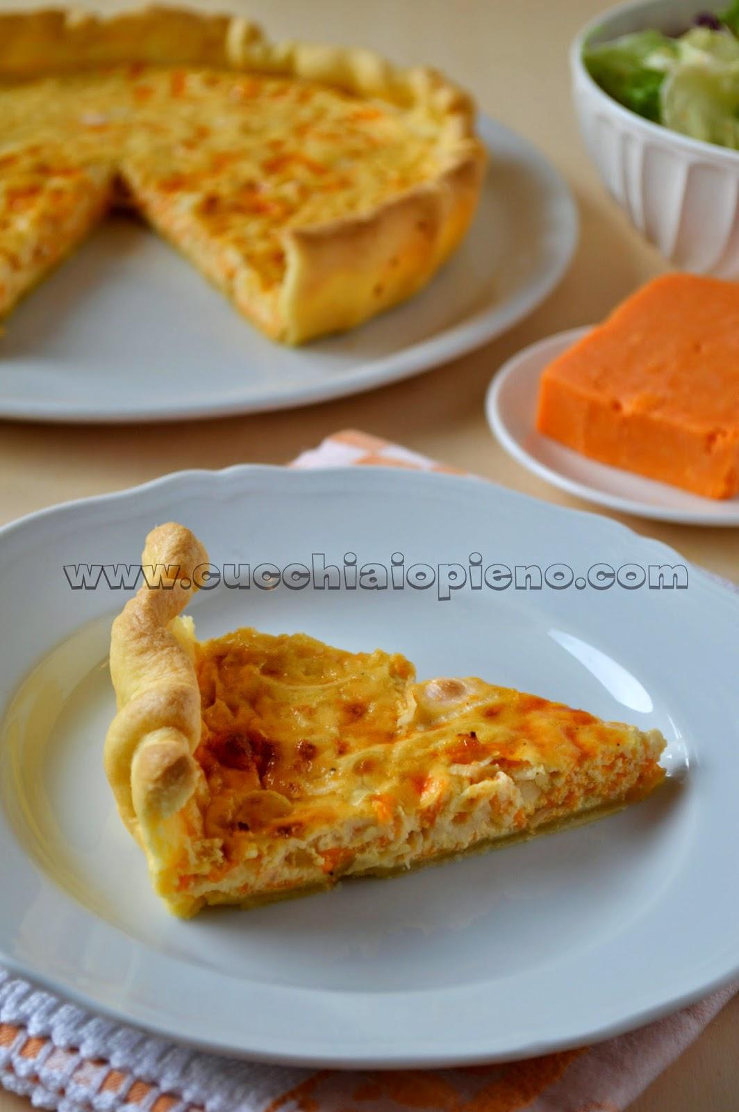 quiche de alho-poró e queijo