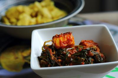 Methi chaman (Indiase kaas met fenegriek en spinazie)