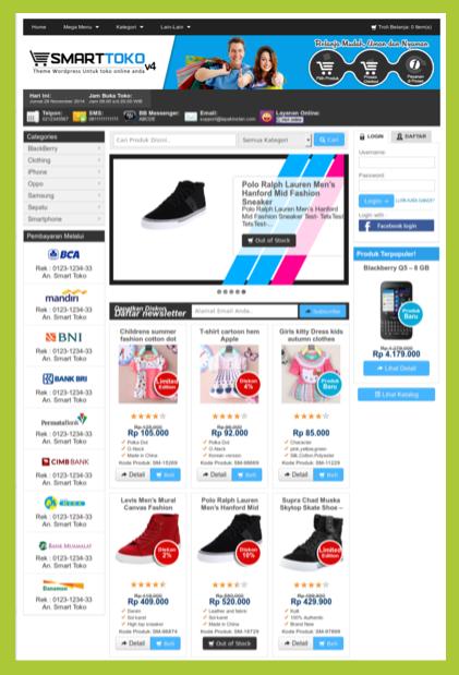Theme untuk toko online