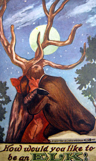 kissing couple or elk head optical illusion