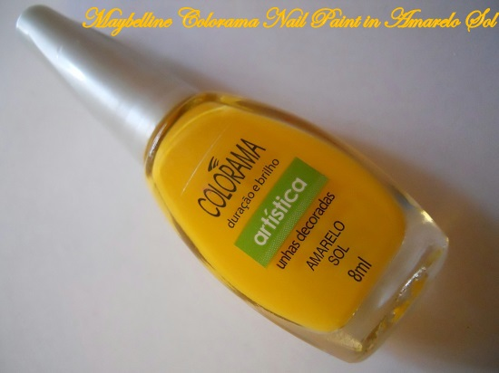 Maybelline Colorama Nail Paint in Amarelo Sol- Review & NOTD+maybelline nail polish online