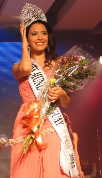 Miss World Mundo Paraguay 2012 winner Fiorella Migliore Llanes