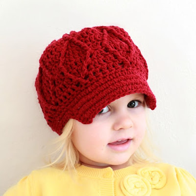 Crochet For Free: Maggie Newsboy Hat (two sizes: toddler ...