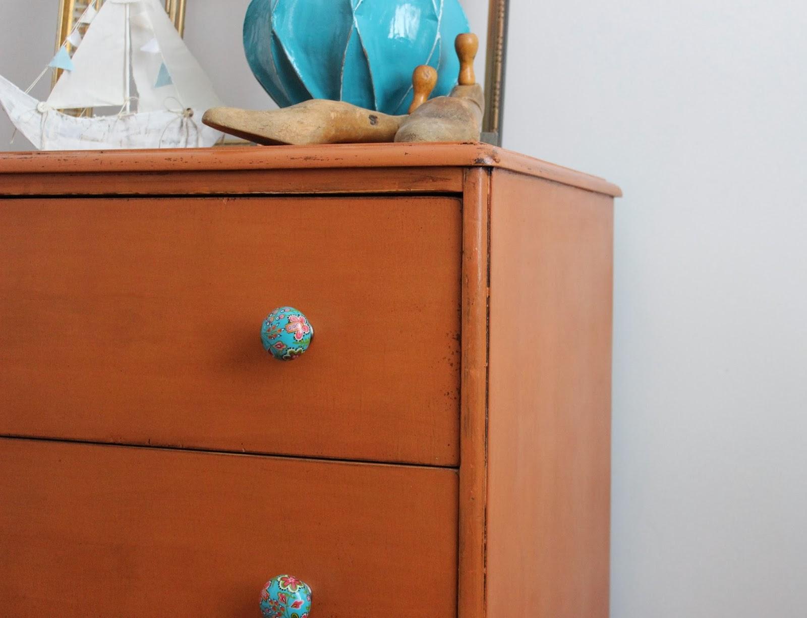 Pumpkin Orange Paint poppyseed creative living: pumpkin orange dresser