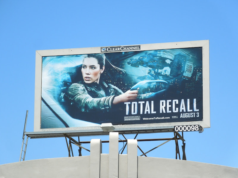 Total Recall Jessica Biel billboard