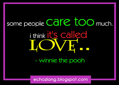 "Some people care too much. i think its called ""LOVE"""