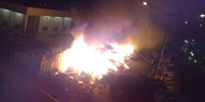 kebakaran pasar klender jakarta