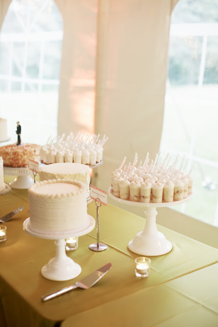 Gluten-free Dessert Shooters and Wedding Cake